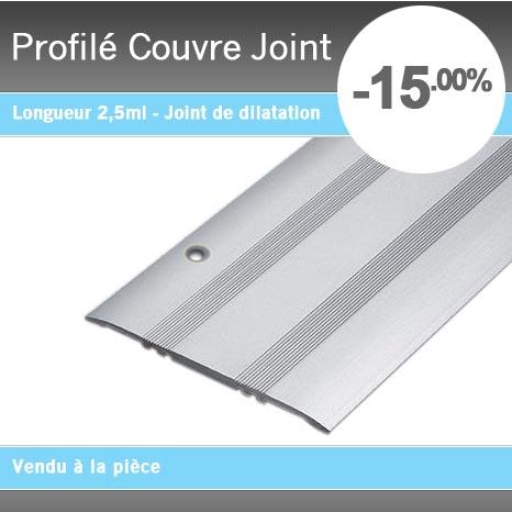 Profil couvre joint perc alu anodis for Joint de dilatation pour carrelage exterieur