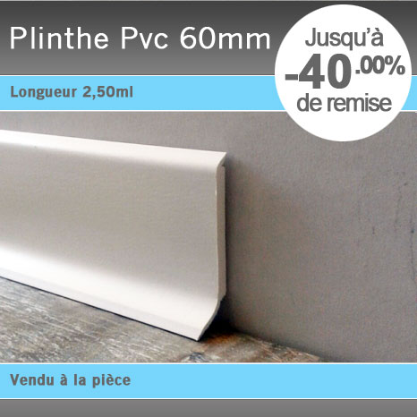 Plinthe pvc 60mm for Plinthe souple en rouleau