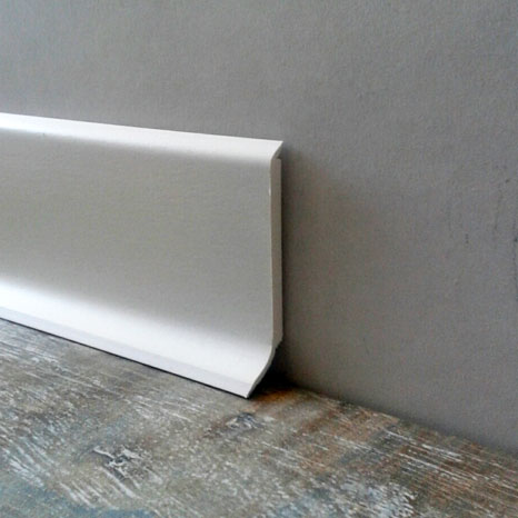 Plinthe pvc 60mm for Plinthe carrelage blanc