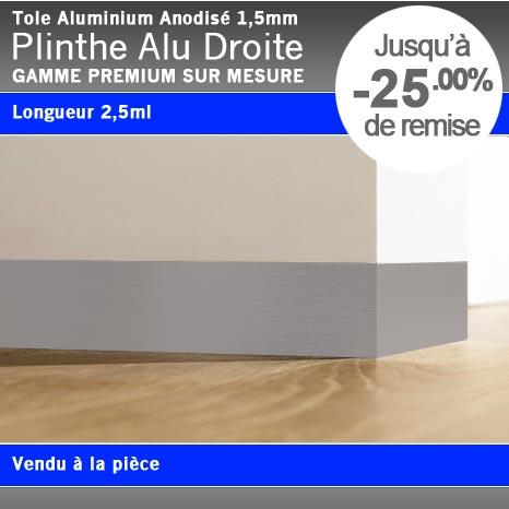 plinthe droite alu anodis. Black Bedroom Furniture Sets. Home Design Ideas