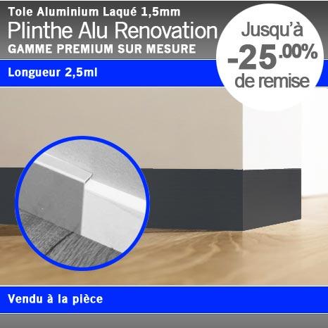 plinthe recouvrement alu laqu. Black Bedroom Furniture Sets. Home Design Ideas