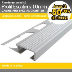 Profil escaliers for Profile carrelage inox