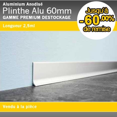 Plinthe Alu Anodise Argent 60mm Www Plinthe Alu Com